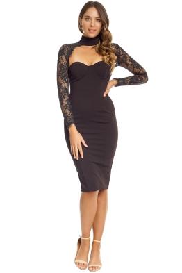 Misha Collection - Carolena Dress - Front - Black
