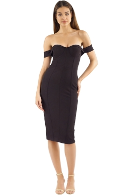 Misha Collection - Chloe Dress - Black - Front