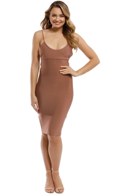 Misha Collection - Jazlyn Bandage Dress - Bronze - Front