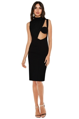 Misha Collection - Penelope Bodycon Dress - Black - Front