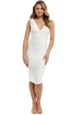 Misha Collection - Solange Bandage Dress - Ivory - Front
