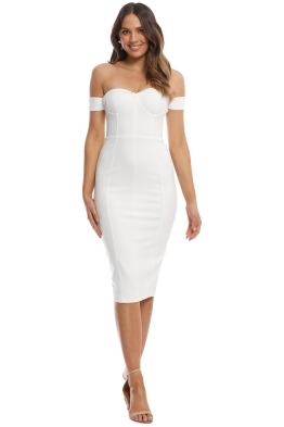 Misha Collection - Chloe Dress - Ivory - Front