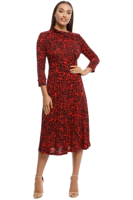 MNG - Moncho Animal Print Dress - Red - Front
