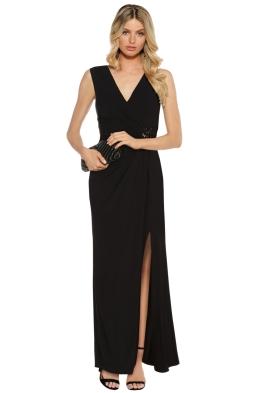 Montique - MacKenzie Gown - Black - Front