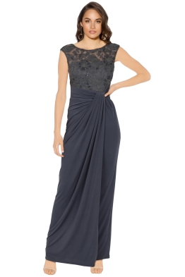 Montique - Maya Embroidered Gown - Front