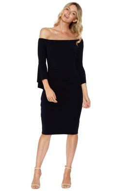 Montique - Miranda Jersey Bell Sleeve Dress - Front