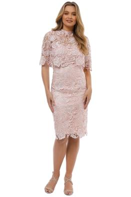 Montique - Peggy Two Piece Lace Dress - Pink - Front