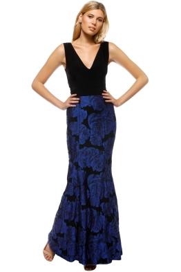 Montique - Veruskha Gown - Black Blue - Front