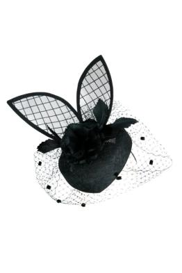 Morgan and Taylor - Bunny Black Fascinator - Side