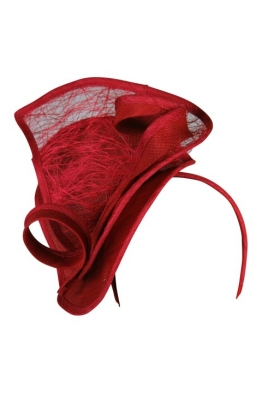 Morgan and Taylor - Addison Fascinator - Front - Red