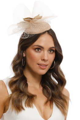 Morgan and Taylor - Dana Fascinator - Champagne - Front Model