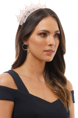 Morgan and Taylor - Elizabella Fascinator - Nude - Product Image