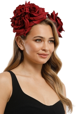 Morgan and Taylor - Maya Fascinator - Burgundy - Product