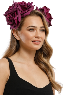 Morgan and Taylor - Maya Fascinator - Cerise - Product