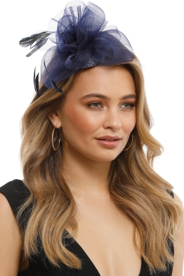 Morgan and Taylor - Nadine Fascinator - Blue - Front