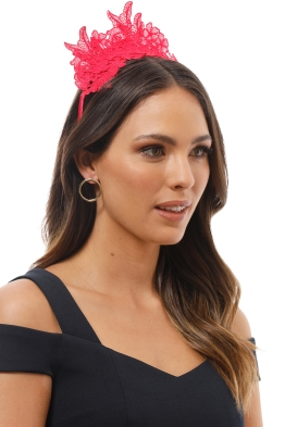 Morgan and Taylor - Sassi Fascinator - Raspberry - Product Image