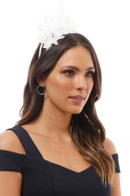 Morgan and Taylor - Sassi Fascinator - White - Product Image