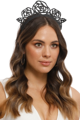 Morgan and Taylor - Zaylee Headpiece - Black - Side Model
