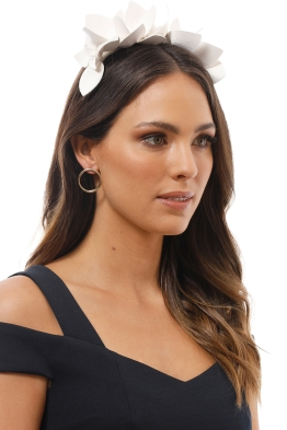 Morgan & Taylor - Adele Fascinator - White - Product Image