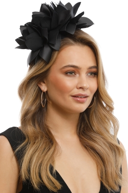 Morgan & Taylor - Courtney Fascinator - Black - Front