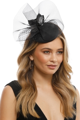 Morgan & Taylor - Dana Fascinator - Black - Front