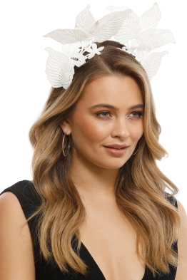 Morgan & Taylor - Florence Fascinator - White - Front
