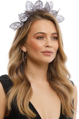 Morgan & Taylor - Jasmine Fascinator - Lilac - Side Model