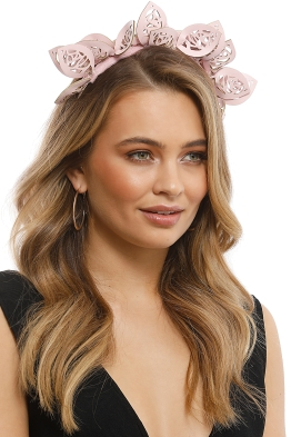 Morgan & Taylor - Jasmine Fascinator - Pink - Side Model