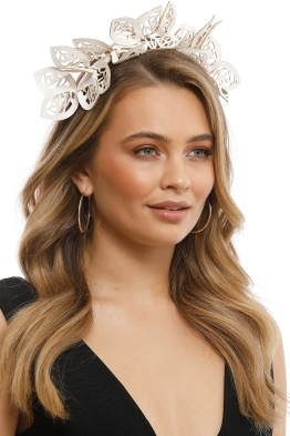 Morgan & Taylor - Jasmine Fascinator - White - Front