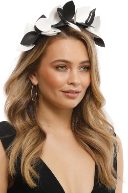 Morgan & Taylor - Lavina Fascinator - Black White - Front