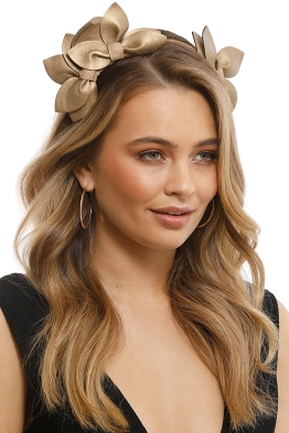 Morgan & Taylor - Sheridan Fascinator - Gold - Front