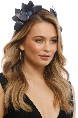 Morgan & Taylor - Sheridan Fascinator - Navy - Front