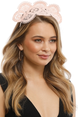 Morgan & Taylor - Verona Fascinator - Nude - Side Model