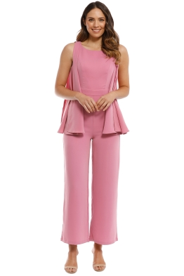Mossman - Go With The Flow Jumpsuit - Pink Musk - Front