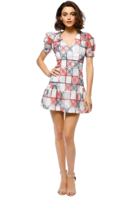 Mossman - The Equal Angles Mini Dress - Front