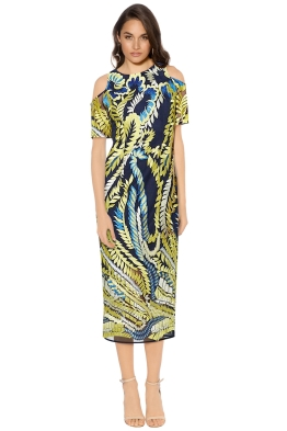 Mossman - The Humming Bird Dress - Yellow Blue - Front