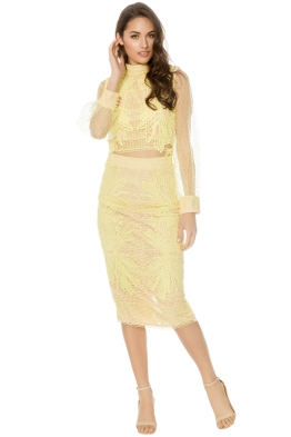 Mossman - The Reason Why Top and Skirt - Yellow - Front
