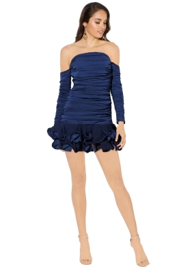 Mossman - The Turning Point Dress - Navy - Front