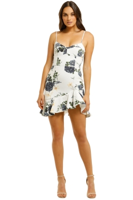 Nicholas-Blue-Rose-Frill-Dress-White-Floral-Back