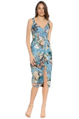 Nicholas - Arielle Floral Quilted Dress - Blue Floral - Front