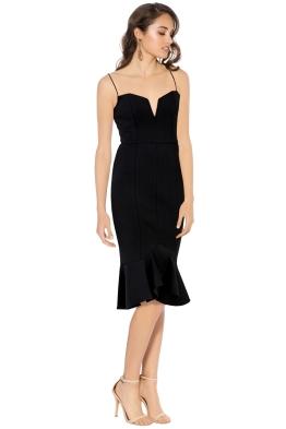 Nicholas - Bandage Flip Hem Bra Dress - Black - Side