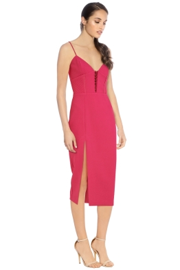 Nicholas - Crepe Corset Bra Dress - Fushcia - Side