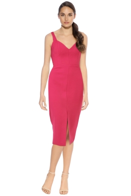 Nicholas - Crepe Quilted Bra Dress - Fuchsia - Front