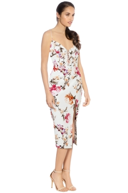 Nicholas - Lucile Floral Corset Bra Dress - Ivory - Side