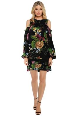 Nicholas the Label - Dahlia Floral Ruffle Dress - Front