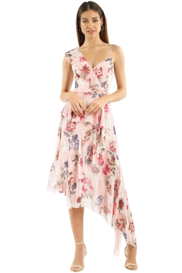 Nicholas The Label - Lilac Floral Frill Dress - Pink - Front