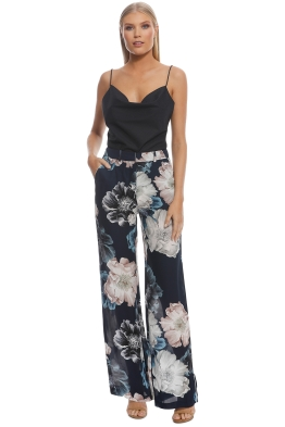 Nicholas The Label - Navy Floral Palazzo Pant - Navy - Front