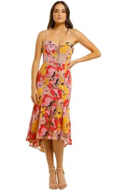 Nicholas The Label - Tropical Lace Flip Hem Dress - Multi - Front