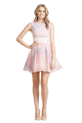 Nicola Finetti - Insert Pleat Dress - Front - Pink