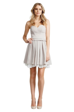 Nicola Finetti - Layer Pleat Dress - Front - Grey
